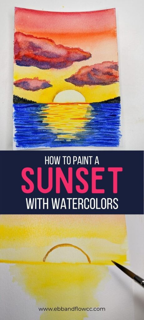 pin image - watercolor sunset collage