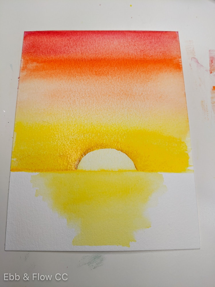 blending out sun outline