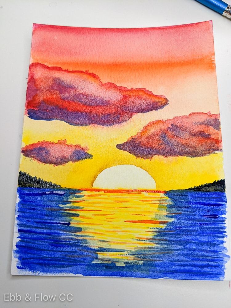 finished watercolor painting