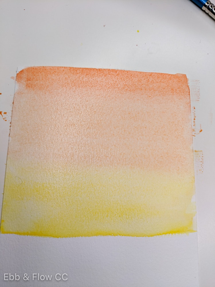 blended gradient of yellow and red