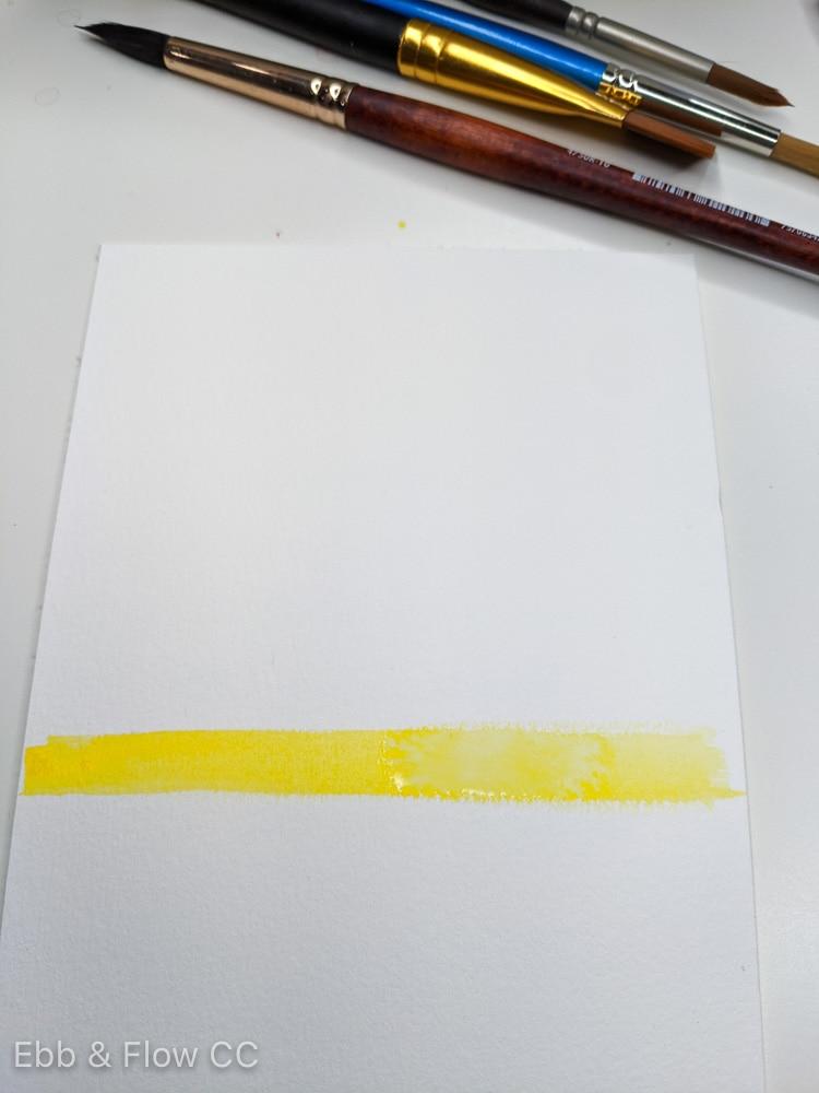 paint yellow at the horizon line