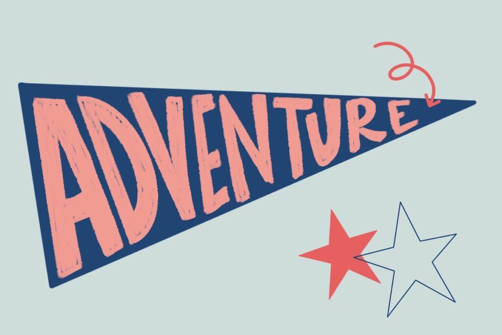 illustrated adventure pennant