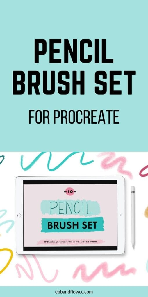 pin image - procreate pencil brush set