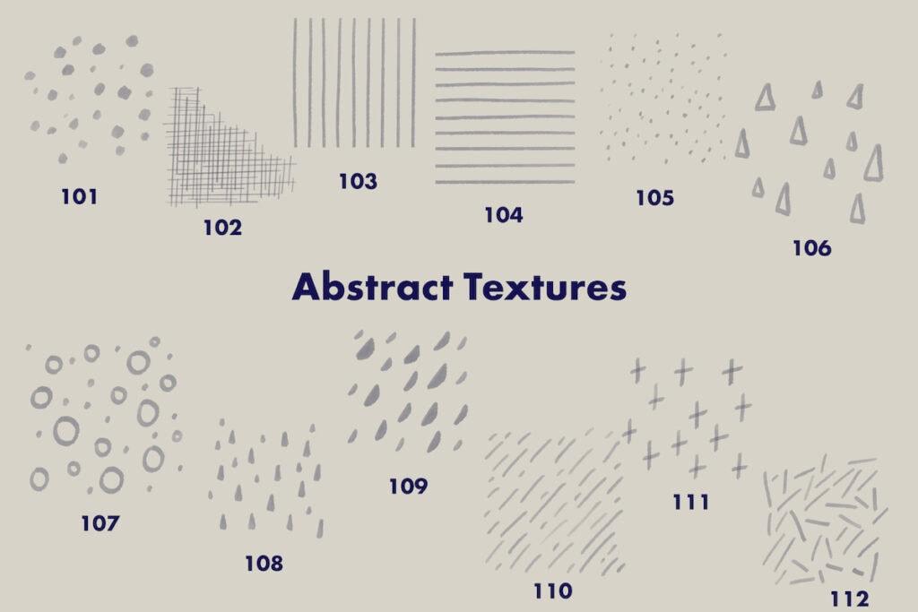 texture brushes in brush set