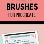 pin image - doodle stamp brushes for procreate on ipad