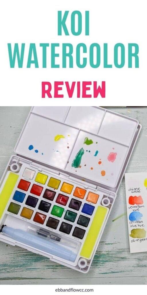 pin image - sakura koi watercolor kit