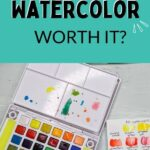 pin image - watercolor kit with swatches