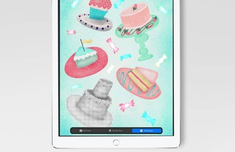 cake illustration on ipad