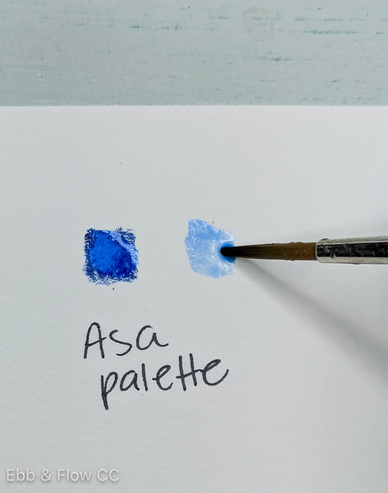using watercolor pencil as a palette for color