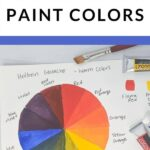 pin image - gouache color chart with text overlay