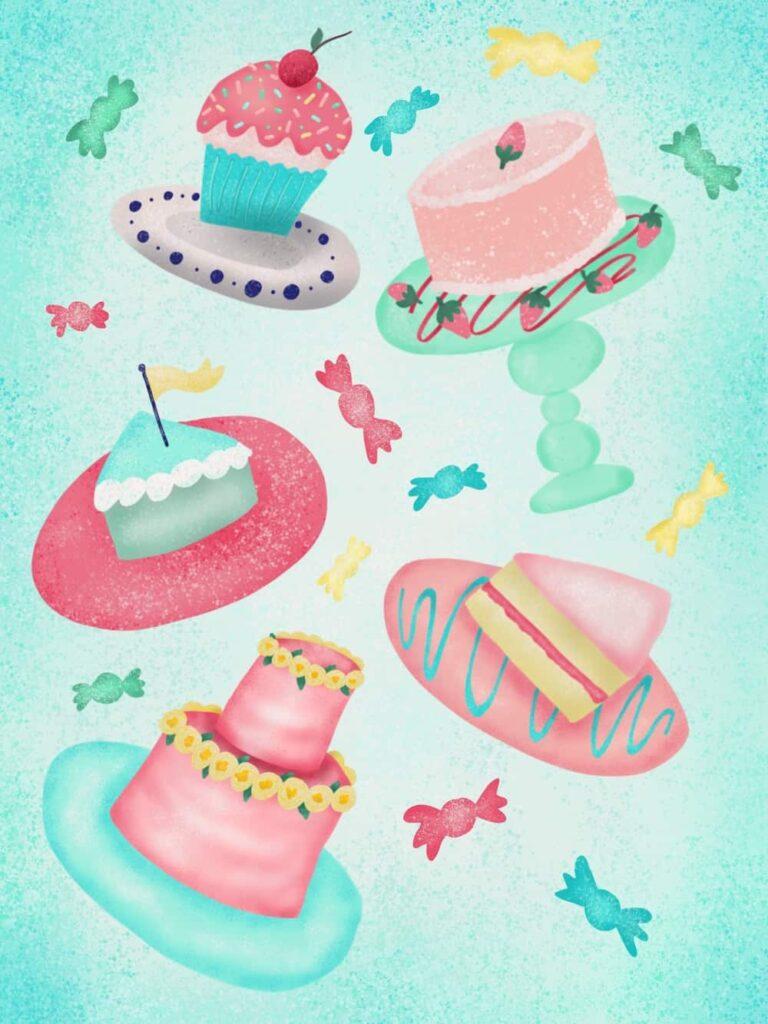 colorful cake illustration
