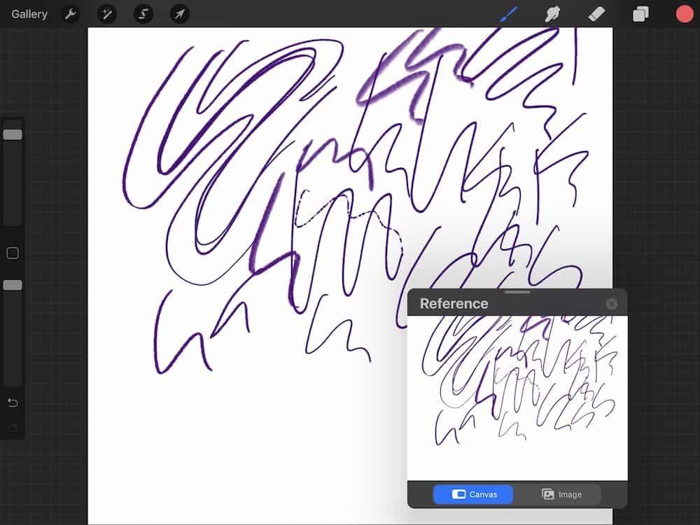 reference window in procreate