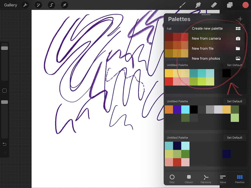 new color tools in procreate