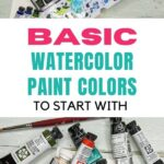 pin image - watercolor paints and pans collage
