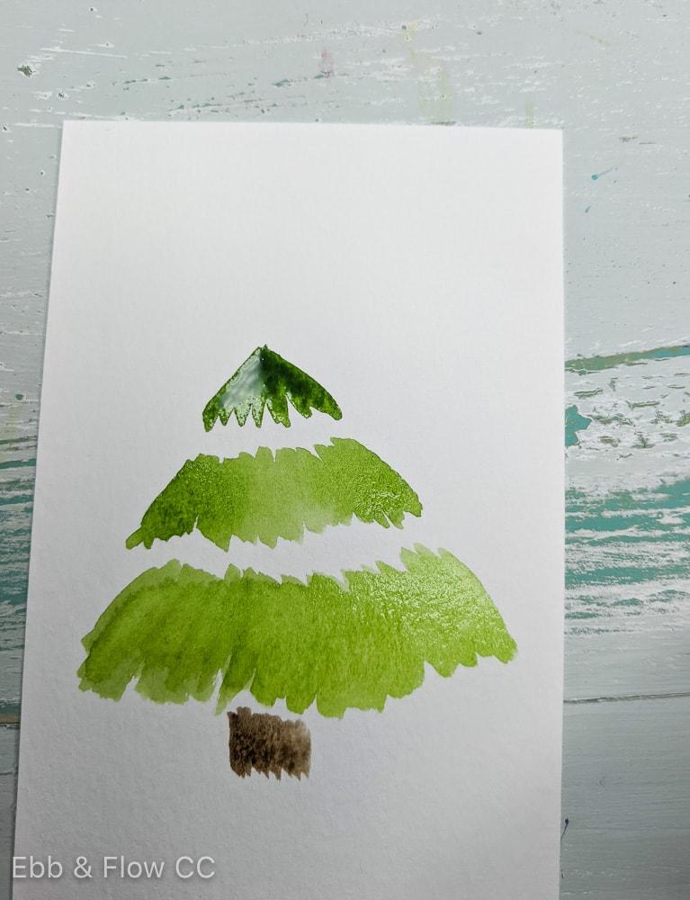 painting christmas tree layers
