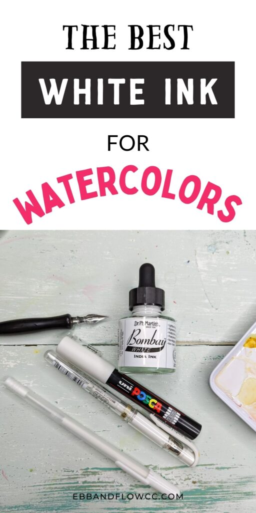 pin image - white inks and pens for using with watercolors