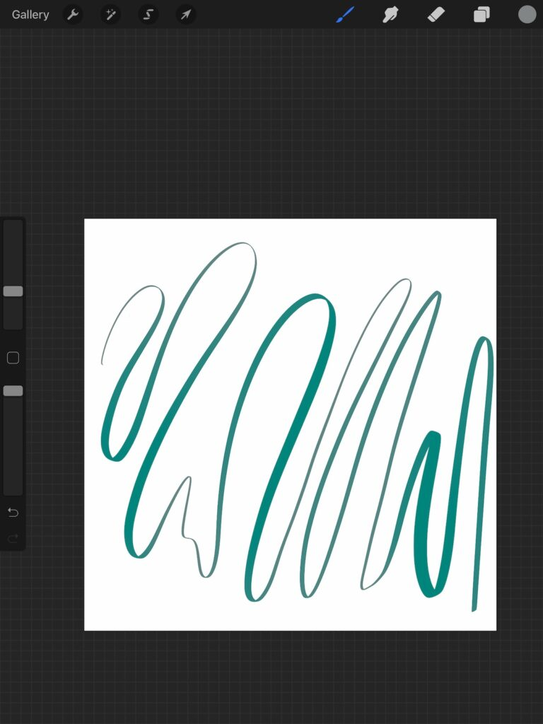 saturation changes in teal line