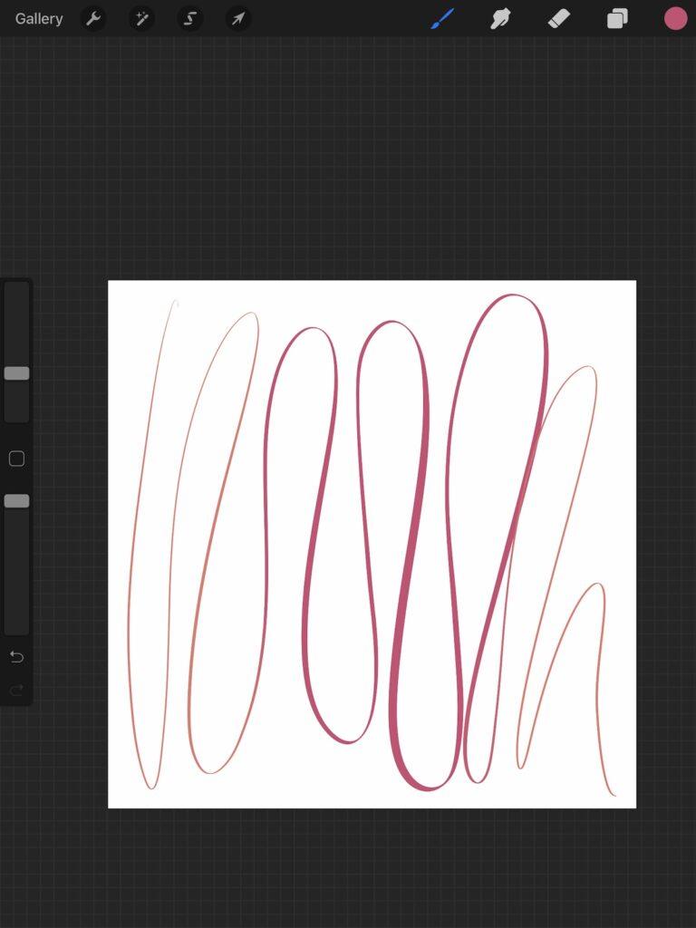 brush stroke shifting between 2 colors