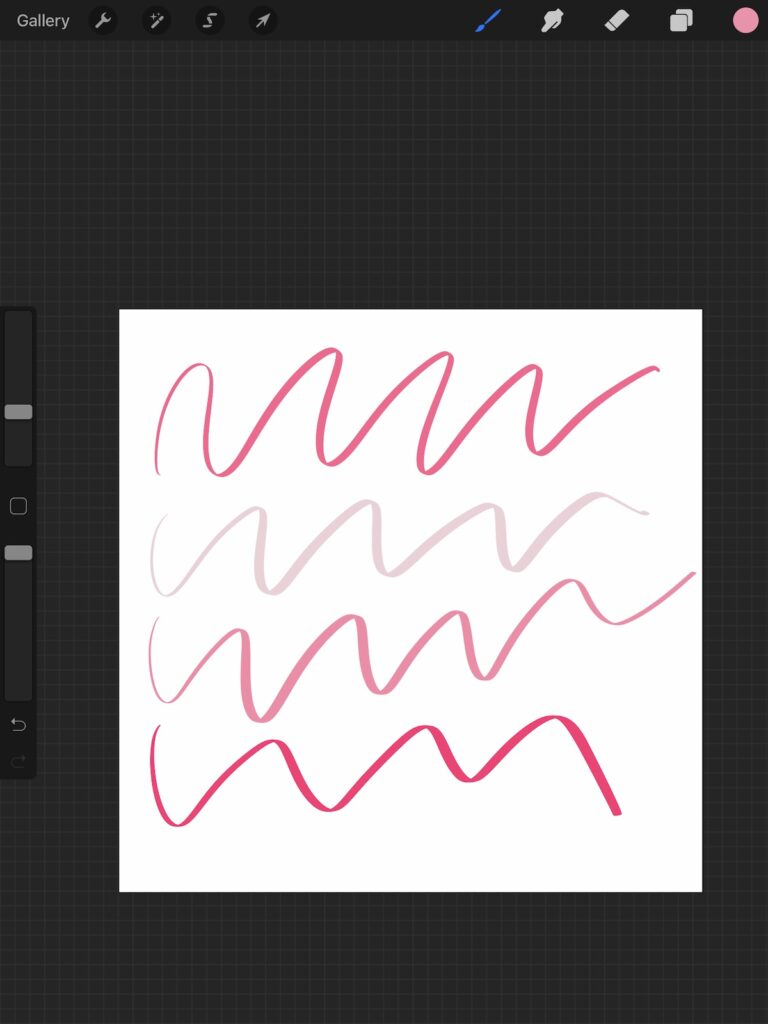 pink lines in Procreate