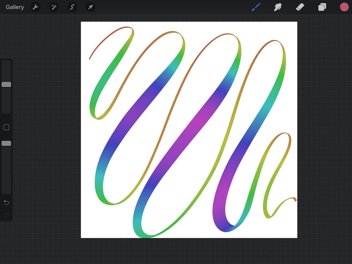 rainbow line in procreate