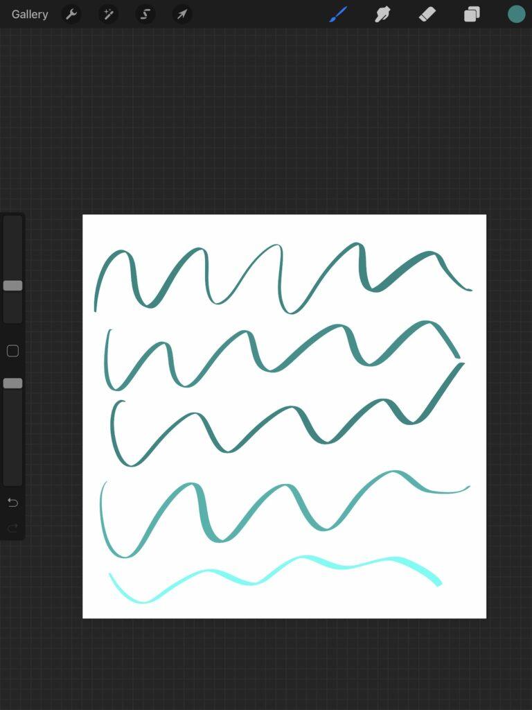 adjusting lightness of color stroke jitter