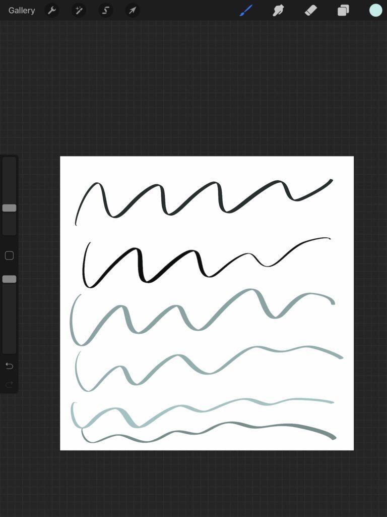 darker color variations of strokes