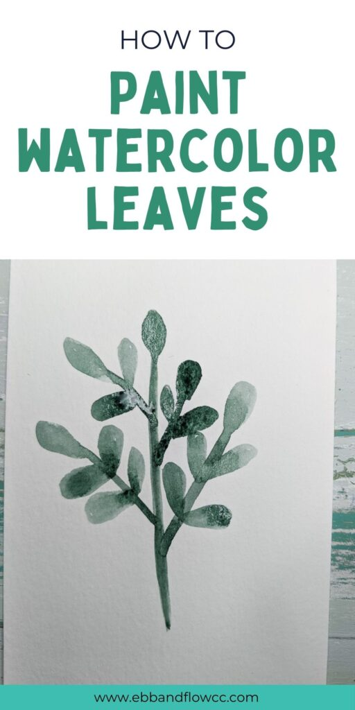pin image - watercolor leaf branch