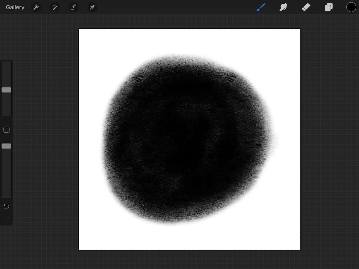 circle shape in Procreate