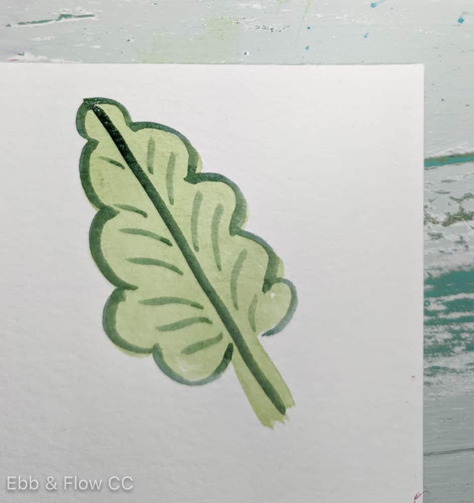 painted leaf