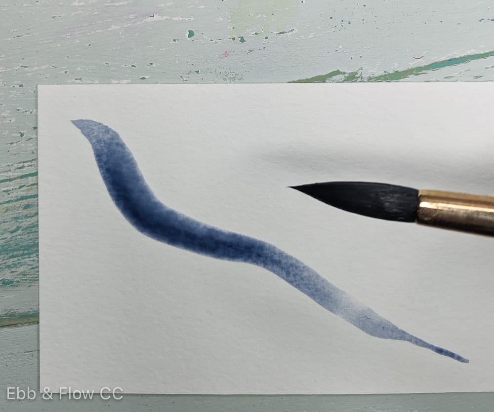 long thin blue leaf
