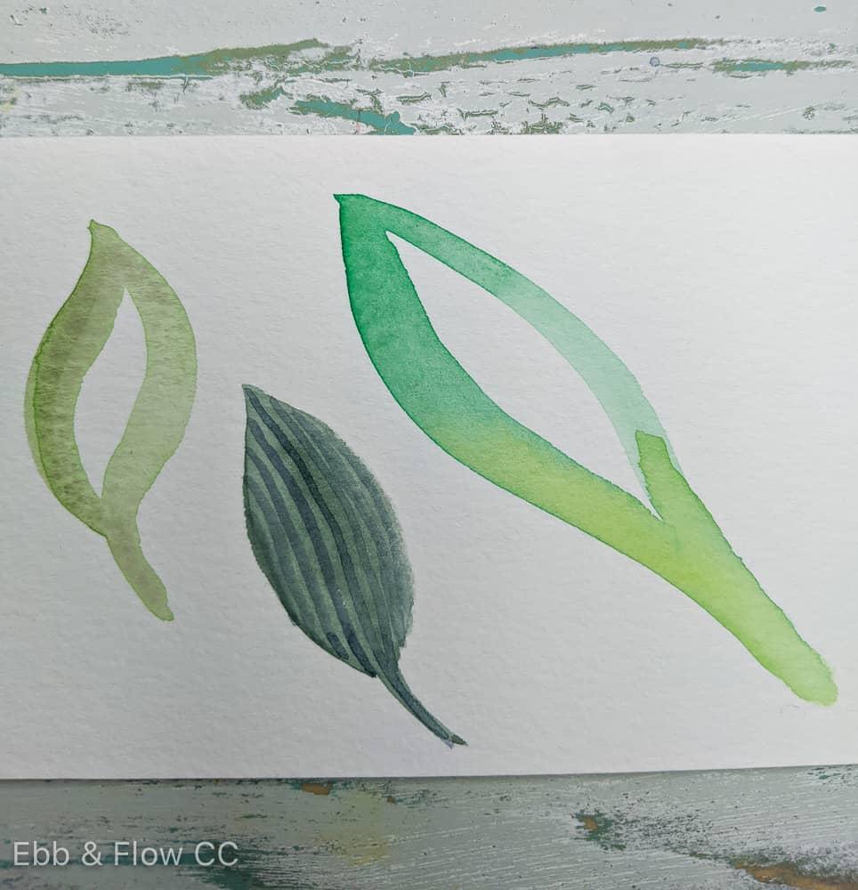 stripes on leaf