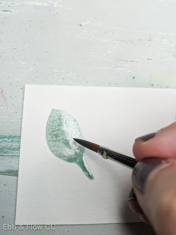 painting a leaf