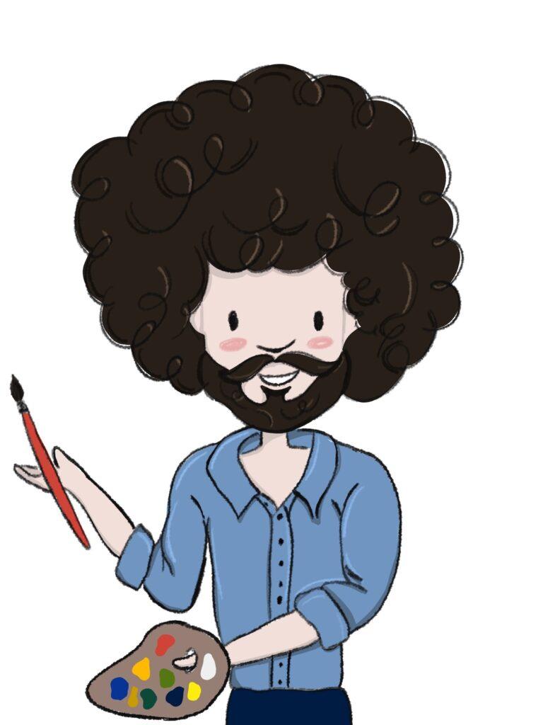 Bob Ross illustration