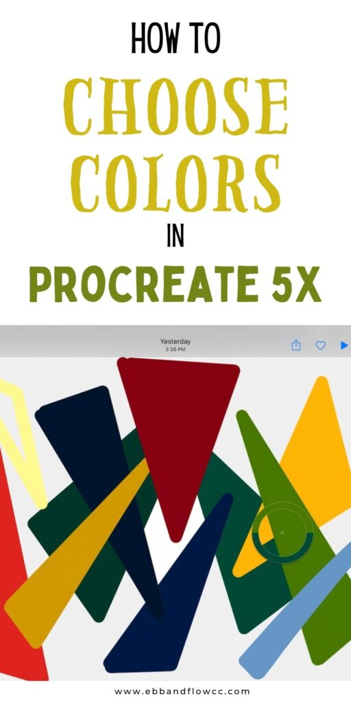 pin image- using color picker with procreate