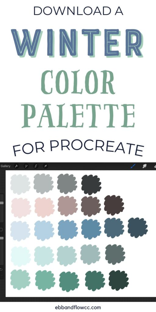 pin image - muted color palette for winter