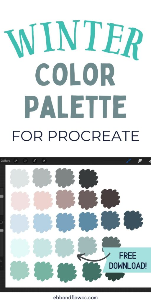 pin image - muted blues, greens and brown color palette