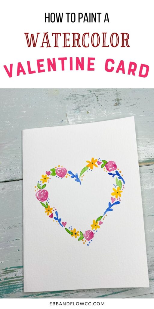 pin image - card with floral heart
