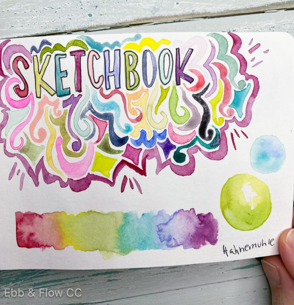 doodles with watercolor