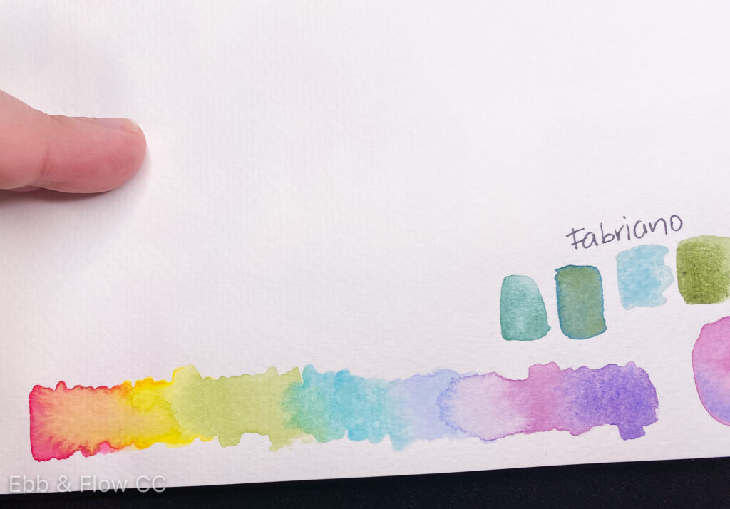 colorful watercolor swatches