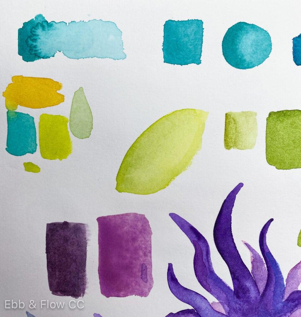bad texture of watercolor paper