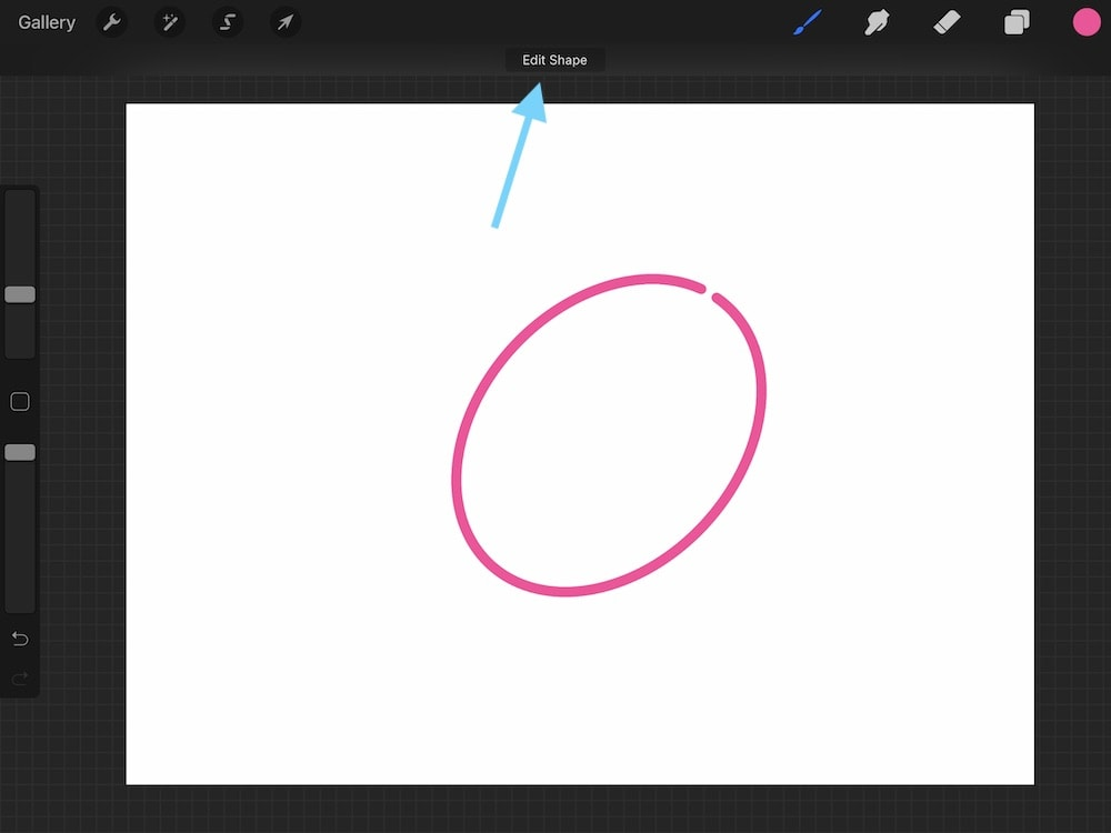 option to edit shape