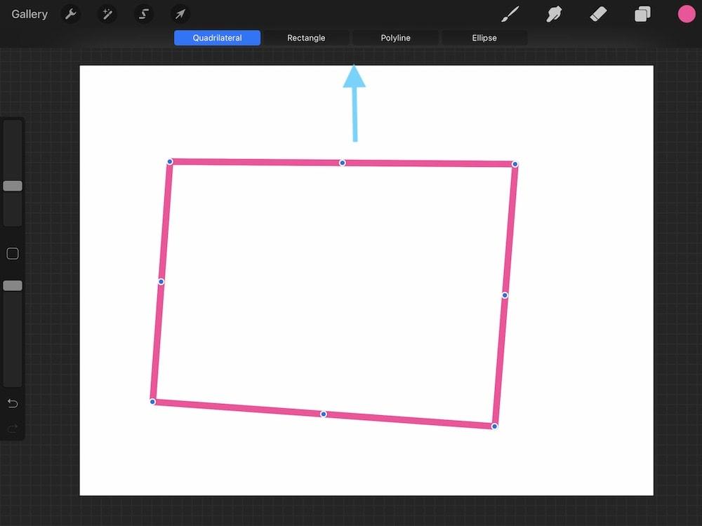 rectangle made with procreate quickshape
