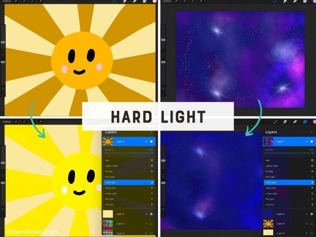 hard light mode in illustrations