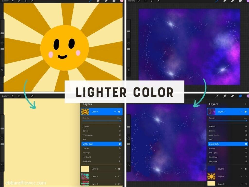 lighter color mode in illustrations