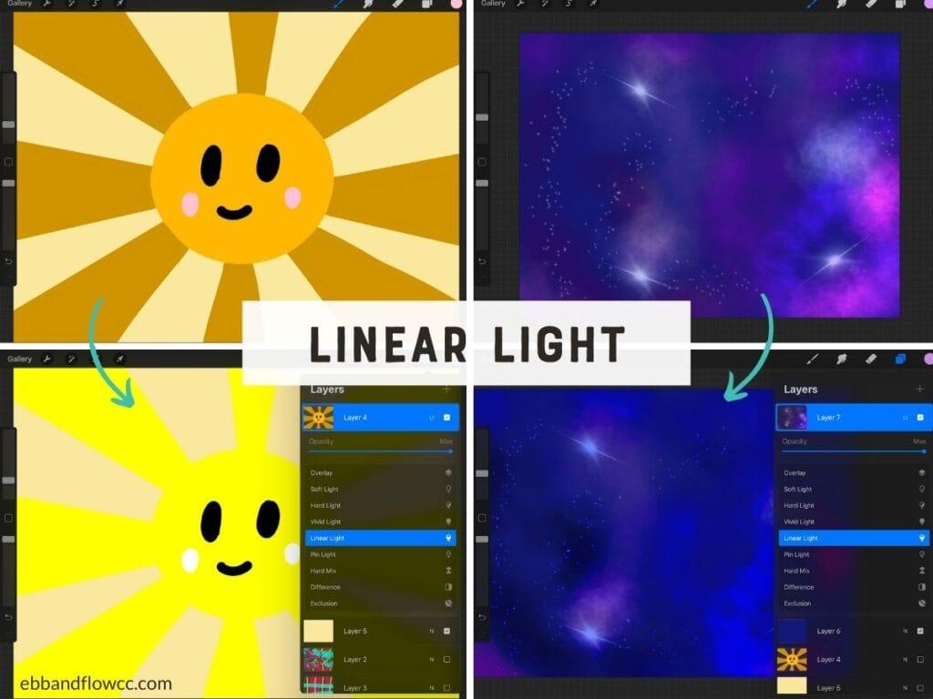 linear light mode in illustration screenshot