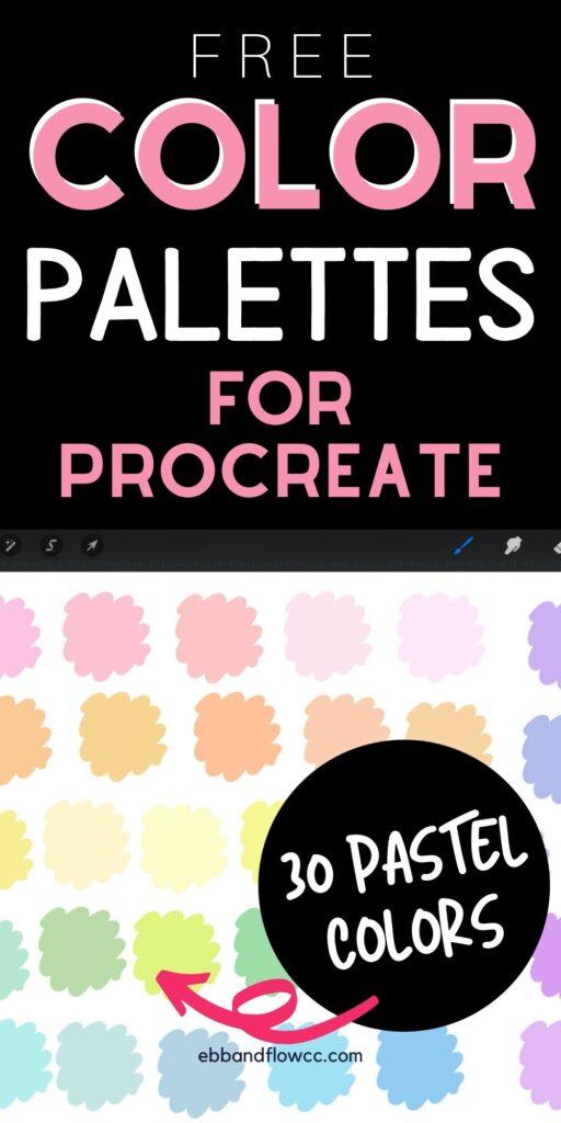pin image - close up of pastel colors