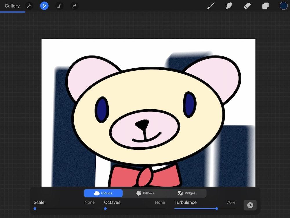 adding noise to bear illustration