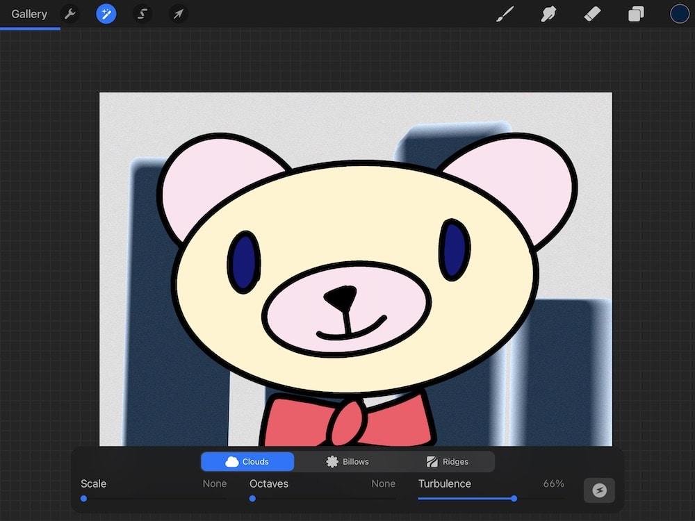 adding noise to bear illustration background