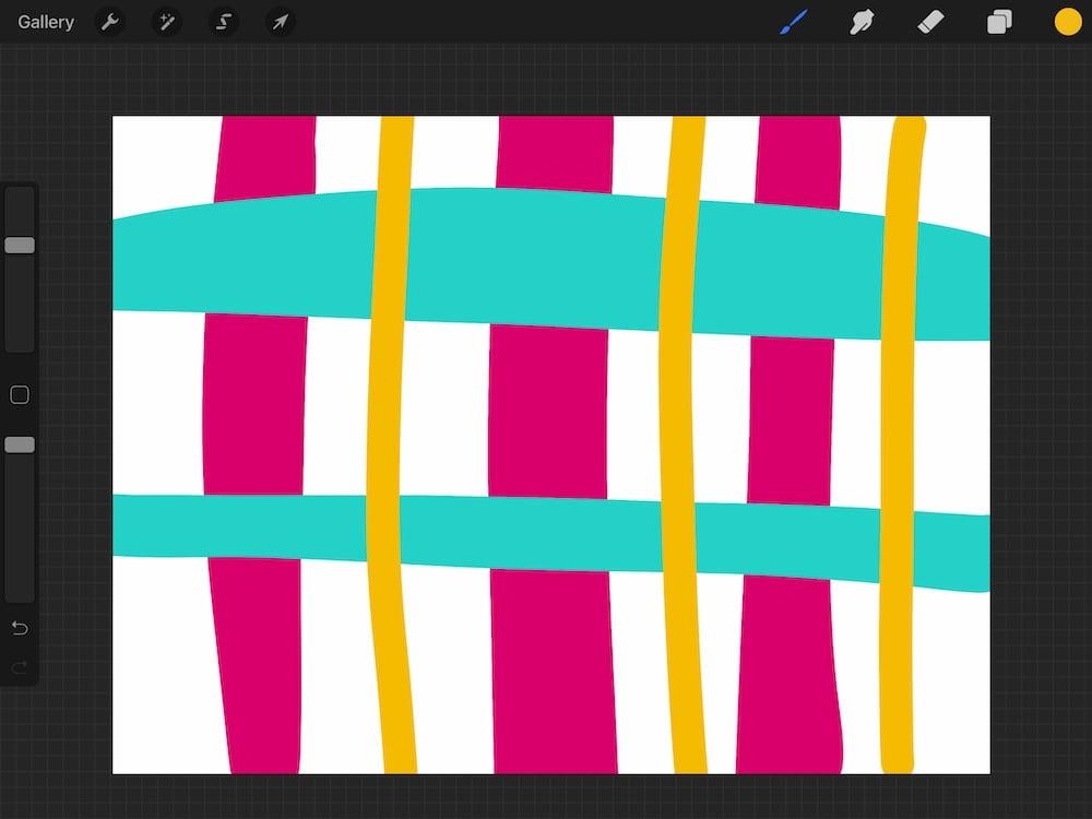 wonky plaid illustration screenshot