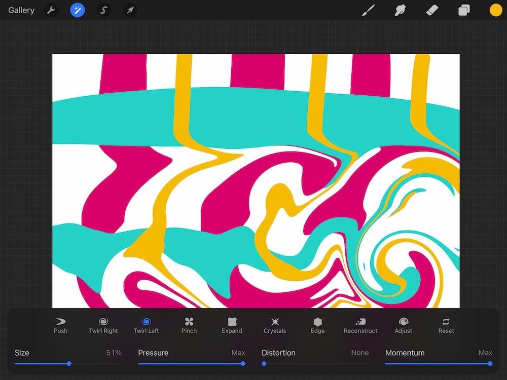 swirl effect in liquify
